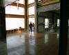 Floor grinding in progress