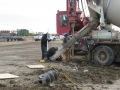 Pouring piles